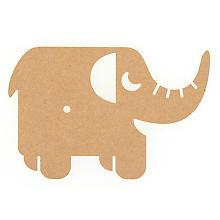MDF-Uhr 'Elefant', 29 x 19 cm