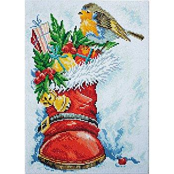 Diamantenstickerei-Set 'Weihnachtsstiefel', 27 x 38 cm