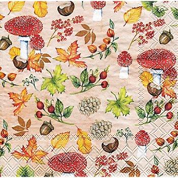 Papierservietten 'Herbst', 33 x 33 cm, 20 Stück