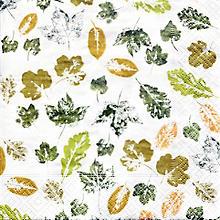 Papierservietten 'Blätter', 33 x 33 cm, 20 Stück