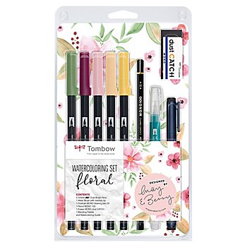 Tombow Kit Watercoloring pour illustrations florales