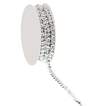 Ruban strass 'glamour', argent, 5 mm, 4,5 m