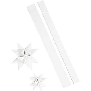 Set de bandes de papier pour étoiles de Fröbel 'extérieur', blanc, 16 bandes
