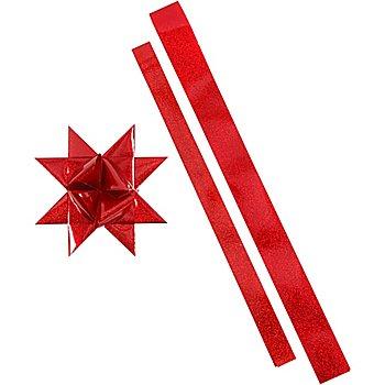 Set de bandes de papier pour étoiles de Fröbel 'extérieur', rouge