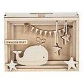 """Holzbausatz 3D-Geschenkbox """"Baby"""", 11,5 x 8,5 x 5 cm"""