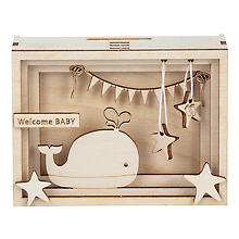 Holzbausatz 3D-Geschenkbox 'Baby', 11,5 x 8,5 x 5 cm