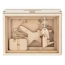 Holzbausatz 3D-Geschenkbox 'Reise', 11,5 x 8,5 x 5 cm