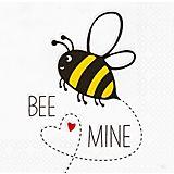 """Papierserviette """"Bee Mine"""", 33 x 33 cm, 20 Stück"""