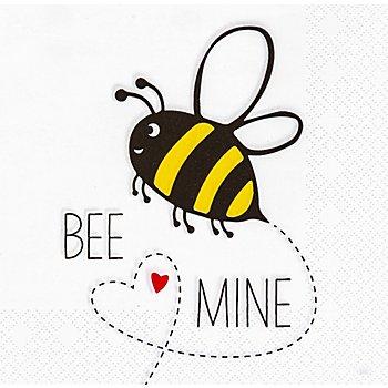 Papierservietten 'Bee Mine', 33 x 33 cm, 20 Stück