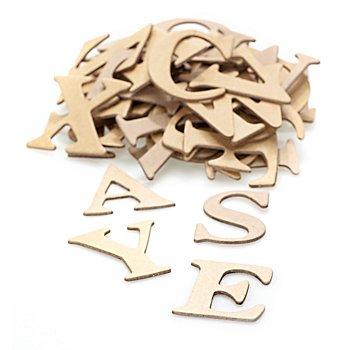 Papp-Buchstaben, 4 cm, 52 Stück