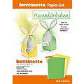"""Papier-Set """"Hasenkörbchen"""", gelb & grün, 4 Körbchen"""