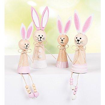 Kit créatif 'lapins en bois'