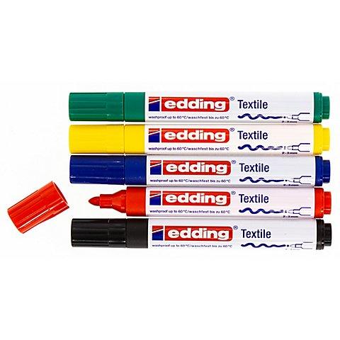 Image of edding Textilmarker, Grundfarben, 5 Stifte