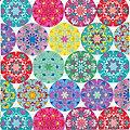 """Serviettes en papier """"mandalas multicolores"""", 33 x 33 cm, 20 pcs."""