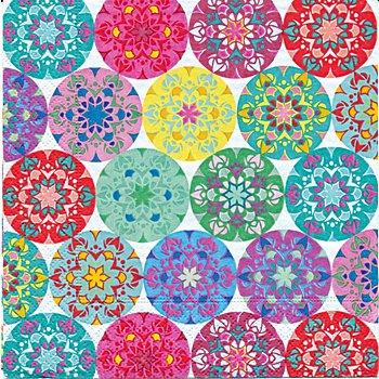 Serviettes en papier 'mandalas multicolores', 33 x 33 cm, 20 pcs.