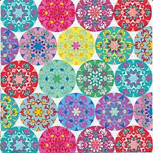 Papierservietten 'Mandala bunt', 33 x 33 cm, 20 Stück