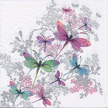 Papierservietten 'Libelle', 33 x 33 cm, 20 Stück