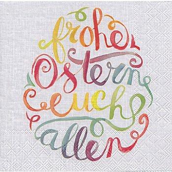 Papierservietten 'Frohe Ostern', 33 x 33 cm, 20 Stück