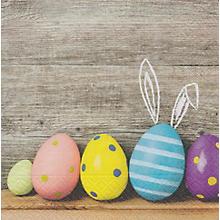 Serviettes en papier 'œufs de Pâques multicolores', 33 x 33 cm, 20 pcs.