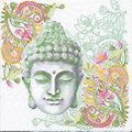 """Papierservietten """"Buddha Kopf"""", 33 x 33 cm, 20 Stück"""