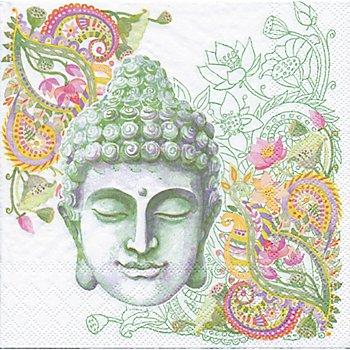Papierservietten 'Buddha Kopf', 33 x 33 cm, 20 Stück