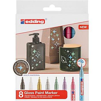 edding Set de marqueurs 'brillant & métallique', 8 marqueurs