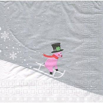 Papierservietten 'Glücksschwein', 33 x 33 cm, 20 Stück