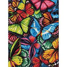 Diamantenstickerei-Set 'Bunte Schmetterlinge'