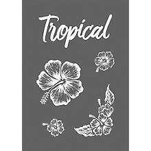 Rayher Pochoir pour sérigraphie 'tropical', 14,8 x 21 cm