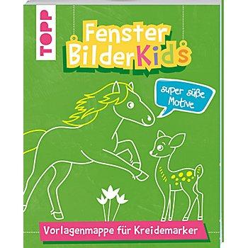 Vorlagenmappe 'Fensterbilder Kids – Super süsse Motive'