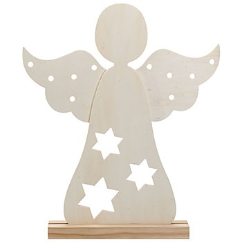 Stehfigur 'Engel' aus Holz, 37 x 44 cm