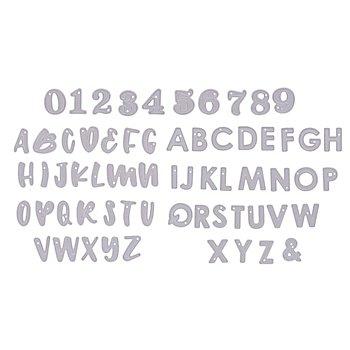 Stanzschablonen-Set 'Buchstaben & Zahlen', 1,8 cm, 63-teilig