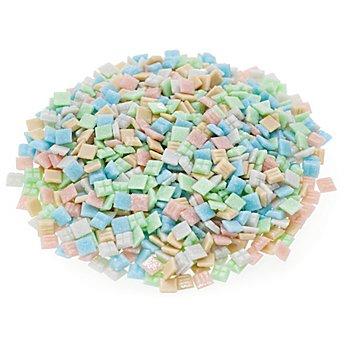 Tesselles en verre, tons pastel, 10 x 10 mm, 750 g