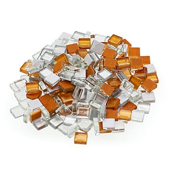 Softglas-Mosaik, metallic-mix, 10 x 10 mm, 200 g
