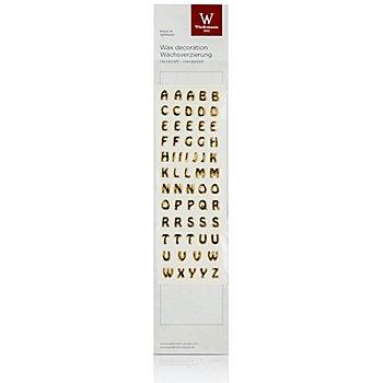 Lettres en cire, or