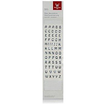 Wachsbuchstaben, silber