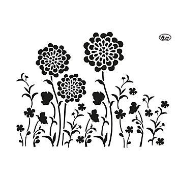 Blob-Schablone 'Blumenwiese'