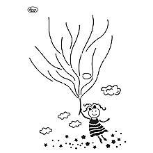 Blob-Schablone 'Luftballon-Mädchen'