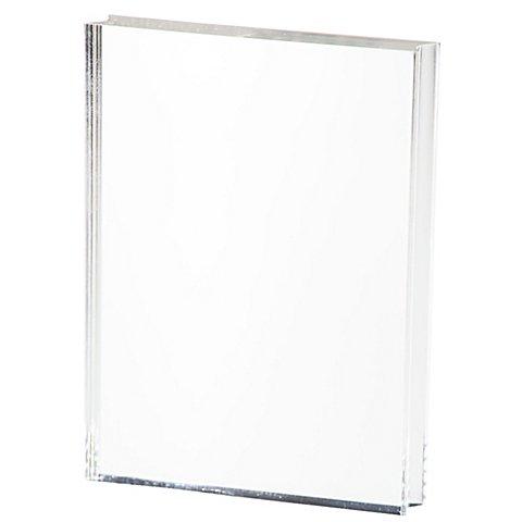 Image of Acrylblock mit Griffmulde, 7,6 x 10 x 1,5 cm