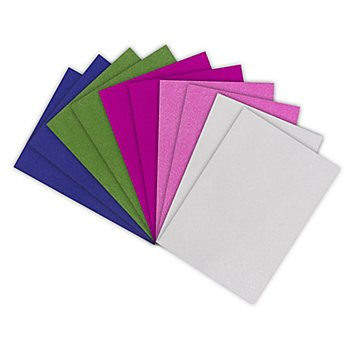 Glitterkarton 'bunt', 20 x 30 cm, 10 Blatt