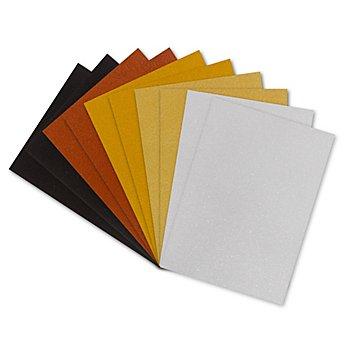 Papier cartonné scintillant 'classique', 20 x 30 cm, 10 feuilles
