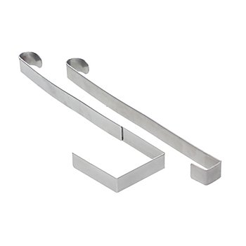 Metalltürhaken für Aussentüren, 25 cm, 2 Stück
