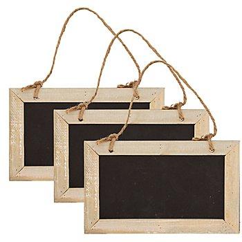 Tafeln aus Holz, 20 x 12 cm, 3 Stück