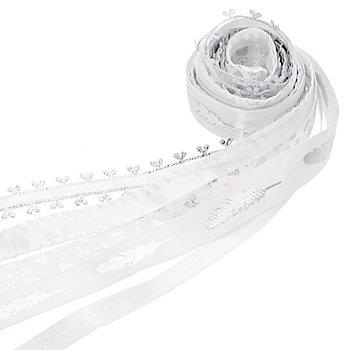 Bänderpaket 'Edel', weiß, 10–15 mm, 5x 2 m