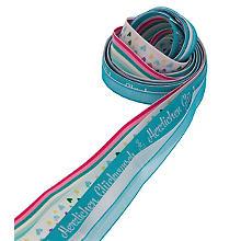 Bänderpaket 'Glückwunsch', blau-weiß-pink, 10–15 mm, 5x 2 m