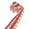 """Bänderpaket """"Lebkuchen"""", rot-natur, 15 mm, 4x 2,5 m"""