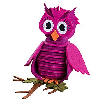 Kit créatif 'hibou en feutrine', violet