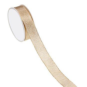 Stoffband, gold, 25 mm, 10 m