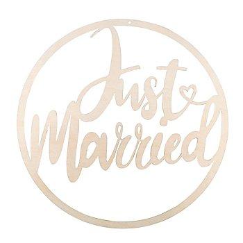 Holz-Kranz 'Just Married', 30 cm Ø