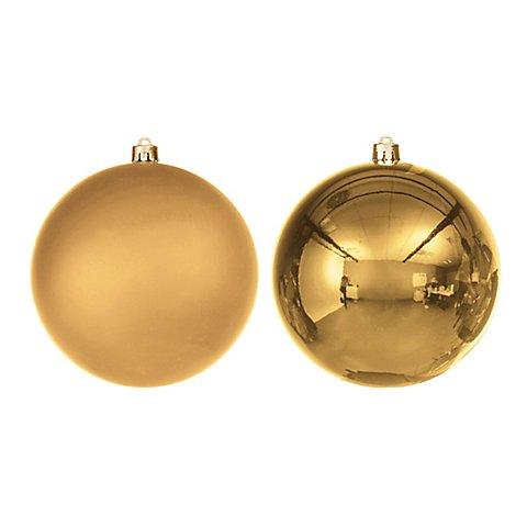 Image of Weihnachtskugeln aus Kunststoff, gold, 10 cm Ø, 4 Stück